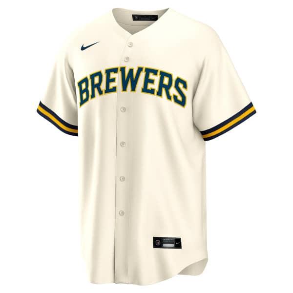 Milwaukee Brewers Nike MLB Replica Home Trikot Cream