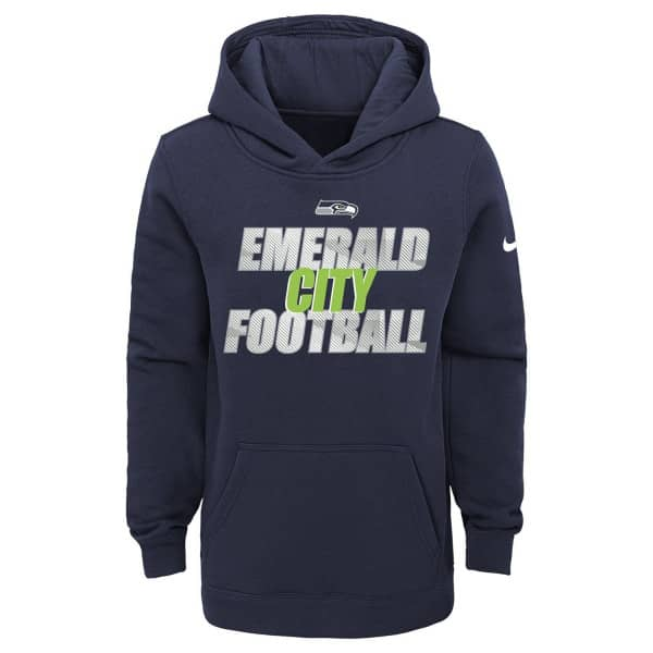 Seattle Seahawks Youth 2020 NFL Local Nike Club Hoodie (KINDER)