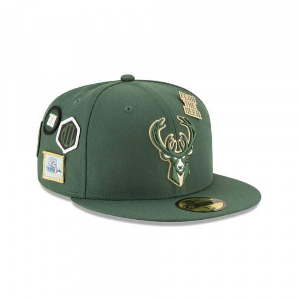 126d4c66c8a New Era Milwaukee Bucks 2018 NBA Draft 59FIFTY Fitted Cap Green ...