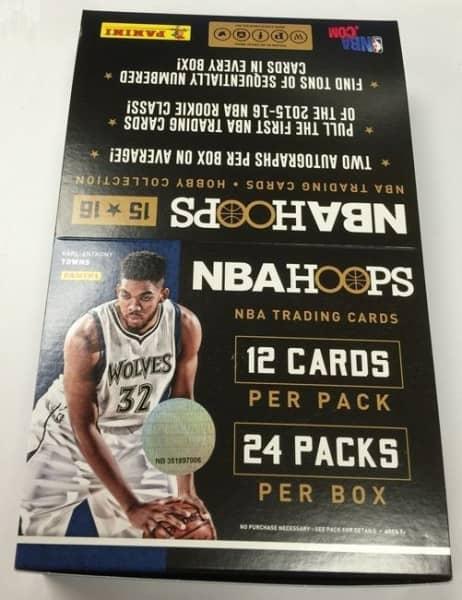 2015/16 Panini NBA Hoops Basketball Hobby Box