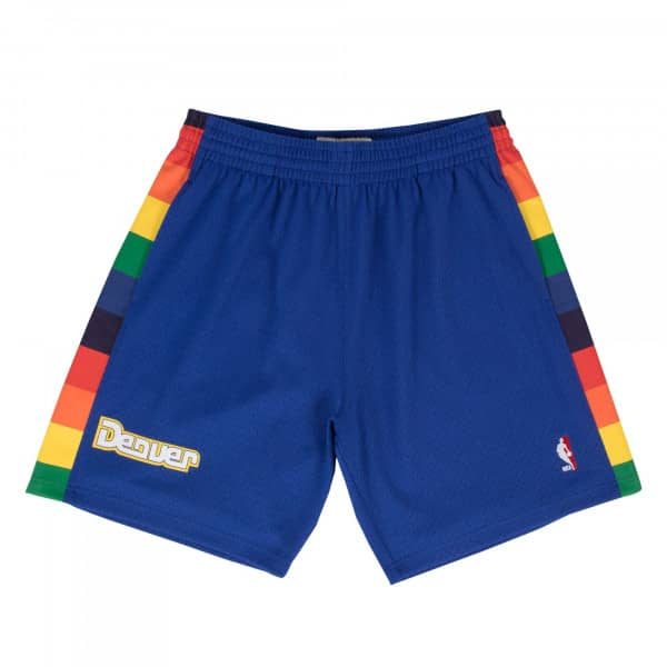 Denver Nuggets 1991-92 Swingman NBA Shorts Blau