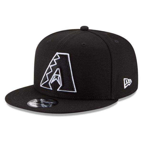 Arizona Diamondbacks Black & White New Era 9FIFTY Snapback MLB Cap