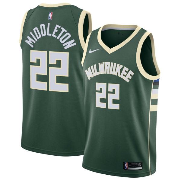 Khris Middleton #22 Milwaukee Bucks Nike Icon Swingman NBA Trikot