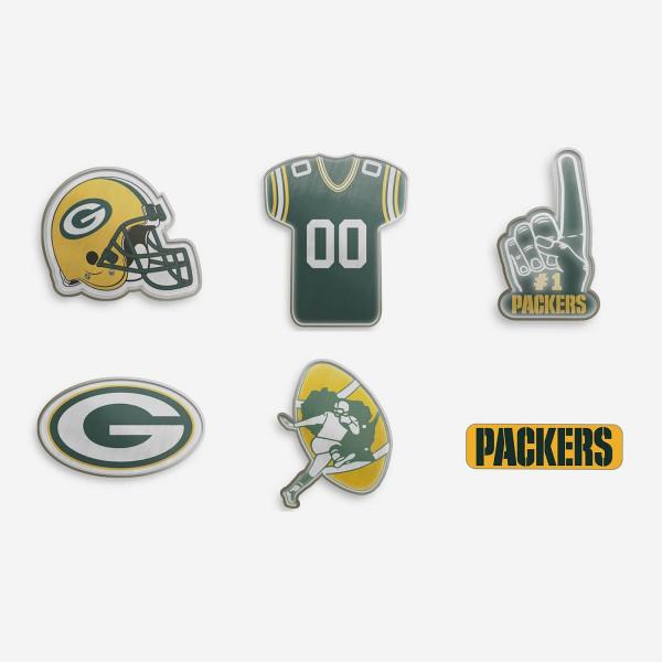 Green Bay Packers Teamlogo NFL Anstecker 6er Set
