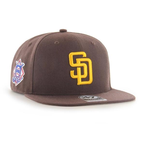 San Diego Padres Sure Shot '47 Captain Snapback MLB Cap Braun