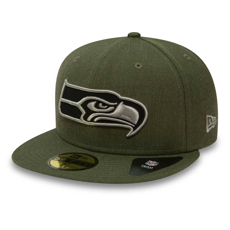 b12aa2f1e New Era Seattle Seahawks Team Heather 59FIFTY Fitted NFL Cap | TAASS.com  Fan Shop