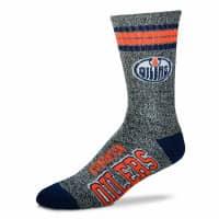 Edmonton Oilers Marbled 4 Stripe Crew NHL Socken