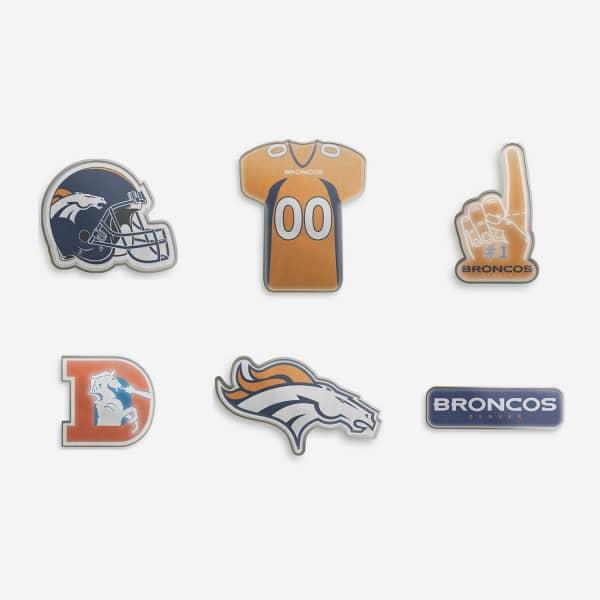 Denver Broncos Teamlogo NFL Anstecker 6er Set