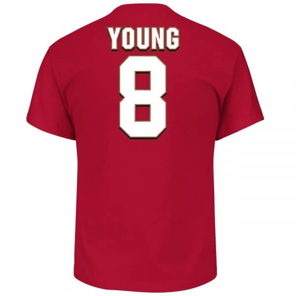 Steve Young #8 San Francisco 49ers Hall of Fame NFL T-Shirt
