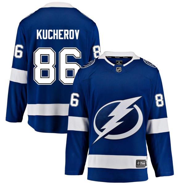 Nikita Kucherov #86 Tampa Bay Lightning Breakaway NHL Trikot Blau