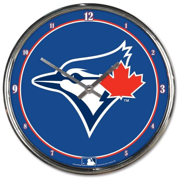 Toronto Blue Jays Chrome MLB Wanduhr