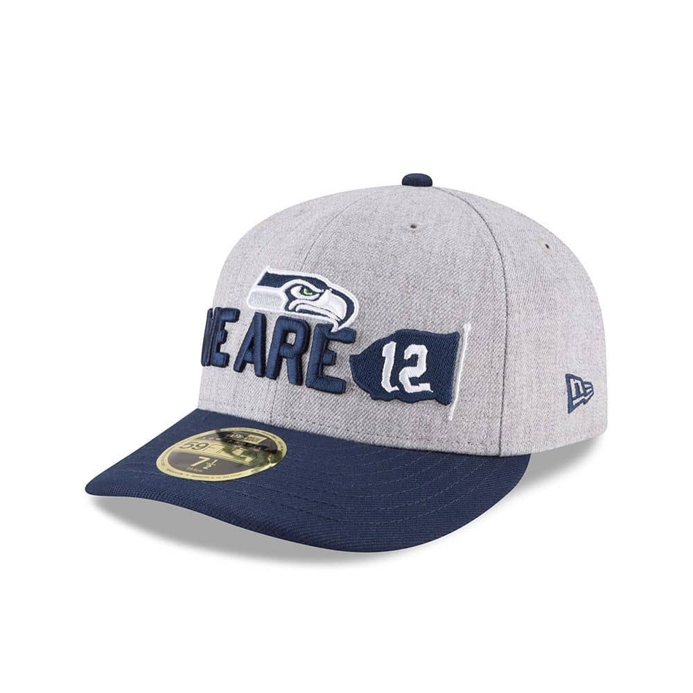 New Era Seattle Seahawks 2018 NFL Draft Low Profile 59FIFTY Fitted Cap  a535107ddf9d