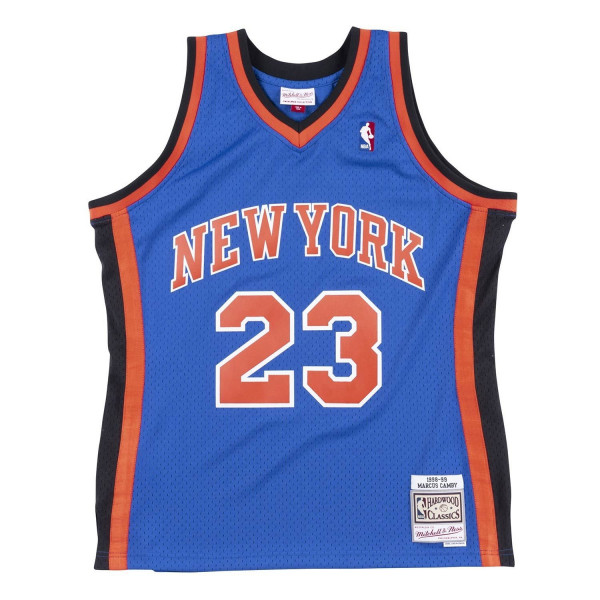 Marcus Camby #23 New York Knicks 1998-99 Swingman NBA Trikot Blau