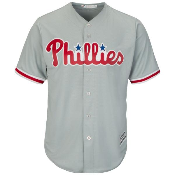Philadelphia Phillies Cool Base MLB Trikot Road Grau