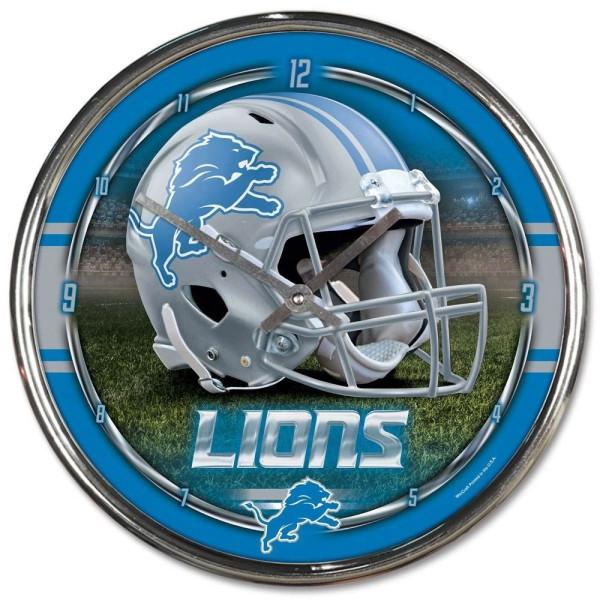 Detroit Lions Chrome NFL Wanduhr
