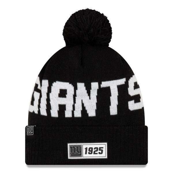 New York Giants Black 2019 NFL Sideline Sport Knit Wintermütze Road