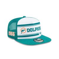 Miami Dolphins 2019 NFL On-Field Sideline 9FIFTY Snapback Cap Home