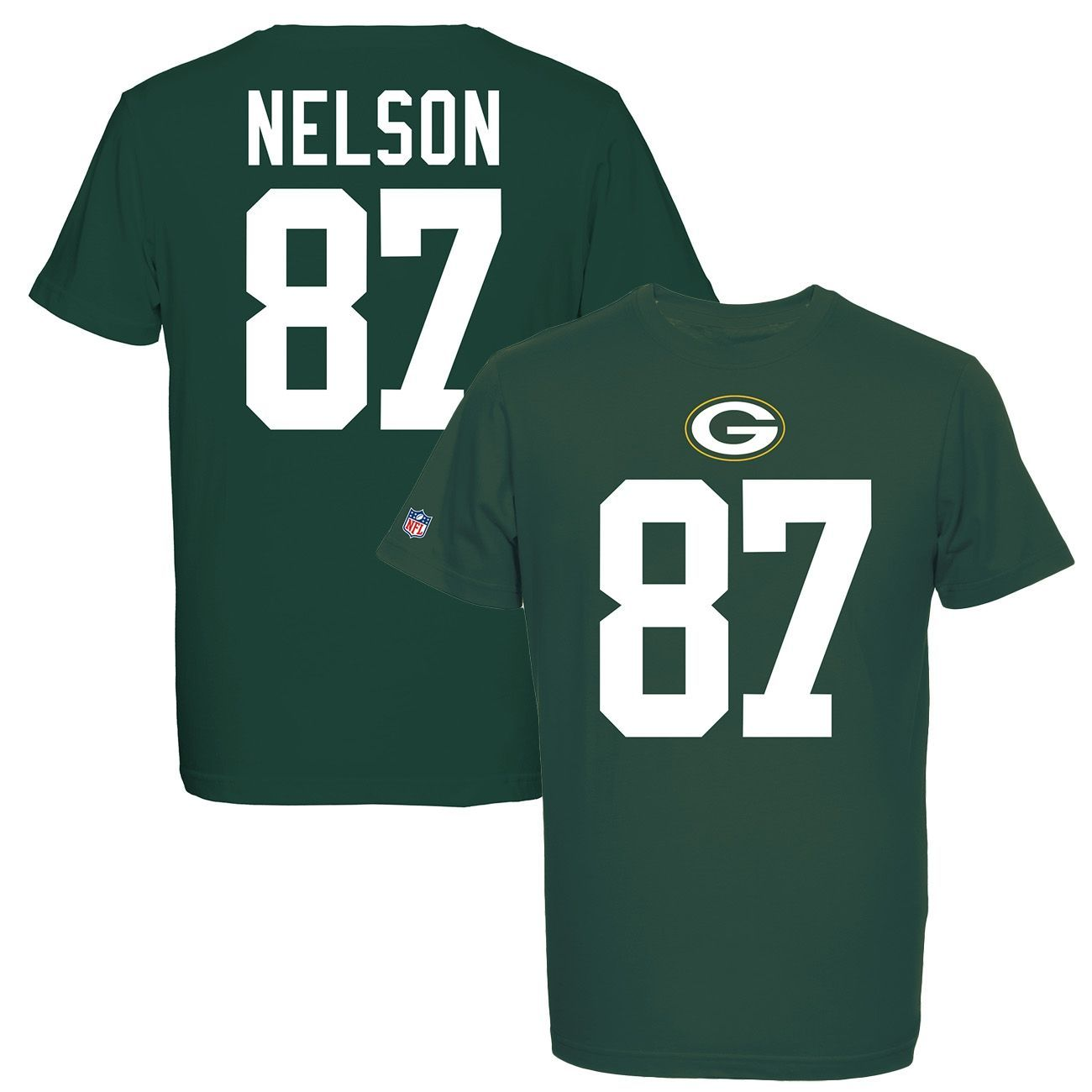 Majestic Jordy Nelson #87 Green Bay Packers Eligible Receiver NFL T  free shipping
