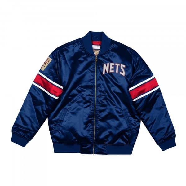 New Jersey Nets Mitchell & Ness Heavyweight Satin NBA Jacke