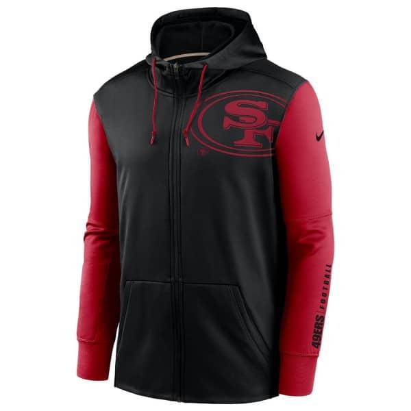 San Francisco 49ers 2020 NFL Big Logo Nike Therma Full-Zip Hoodie