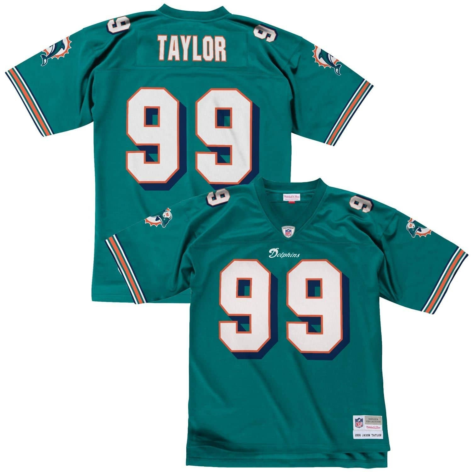 bf2e568c Mitchell & Ness Jason Taylor #99 Miami Dolphins Legacy Throwback NFL ...