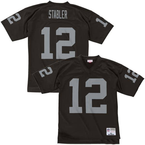 Ken Stabler #12 Oakland Raiders Legacy Throwback NFL Trikot Schwarz