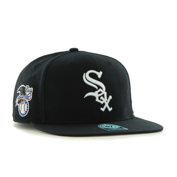 47 Brand Chicago White Sox Sure Shot Snapback MLB Cap Schwarz ... fcb7e0c1ef
