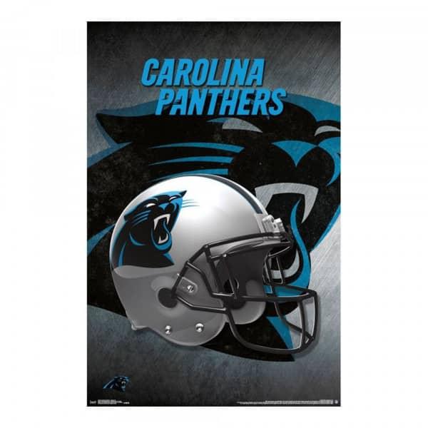 53cff99d Carolina Panthers Helmet Football NFL Poster