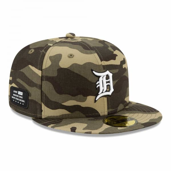 Detroit Tigers 2021 MLB Authentic Armed Forces New Era 59FIFTY Fitted Cap