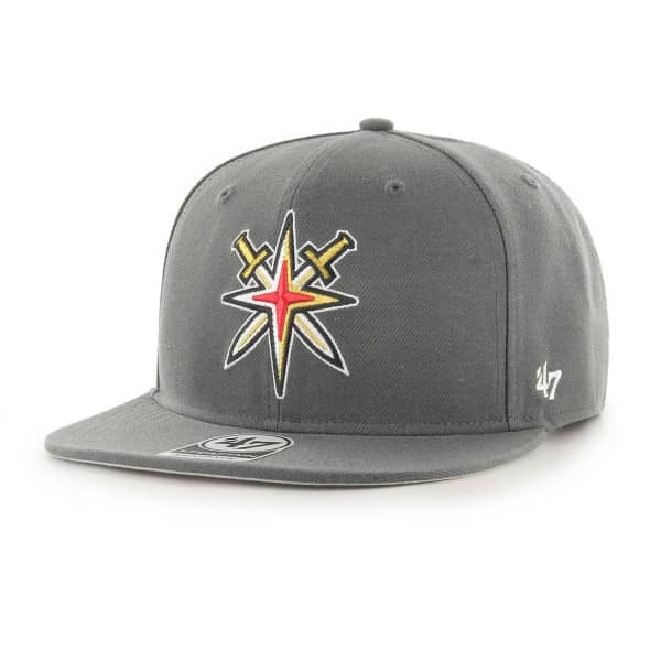 47 Brand Vegas Golden Knights Alternate Logo Captain Snapback NHL Cap  Charcoal  5d4582e74f70
