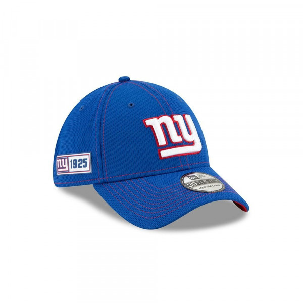 New York Giants 2019 NFL On-Field Sideline 39THIRTY Stretch Cap Road