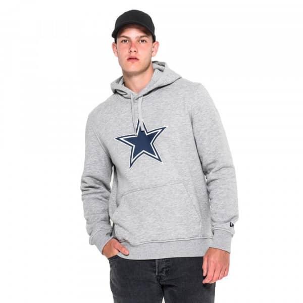 Dallas Cowboys Logo Hoodie NFL Sweatshirt Grau