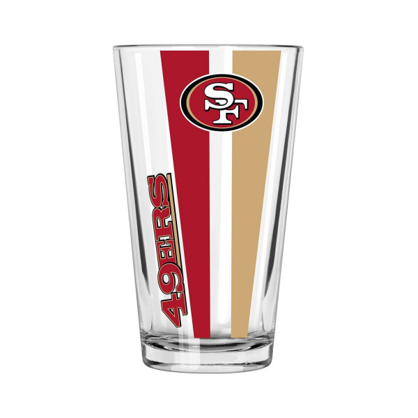 San Francisco 49ers Vertical Stripe NFL Pint Glas (470 ml)