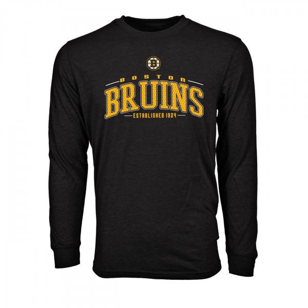 Boston Bruins Mesh Text NHL Long Sleeve T-Shirt