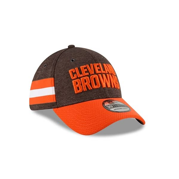 9cfd9b9ca6a New Era Cleveland Browns 2018 NFL Sideline 39THIRTY Flex Cap Home ...