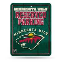 Minnesota Wild Reserved Parking NHL Metallschild