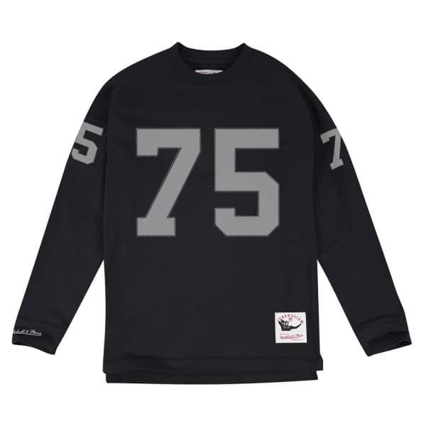 Howie Long #75 Los Angeles Raiders Throwback NFL Long Sleeve Shirt