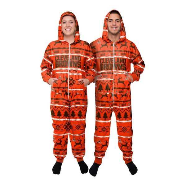 Cleveland Browns Holiday One Piece NFL Schlafanzug