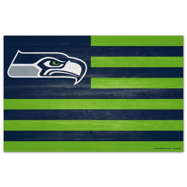 Seattle Seahawks WinCraft NFL Americana Holzschild