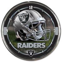 Las Vegas Raiders Chrome NFL Wanduhr