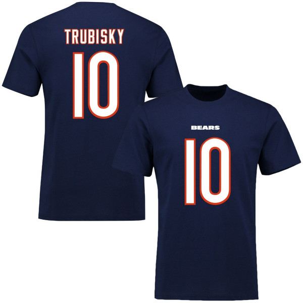 Mitch Trubisky #10 Chicago Bears Player Script NFL T-Shirt