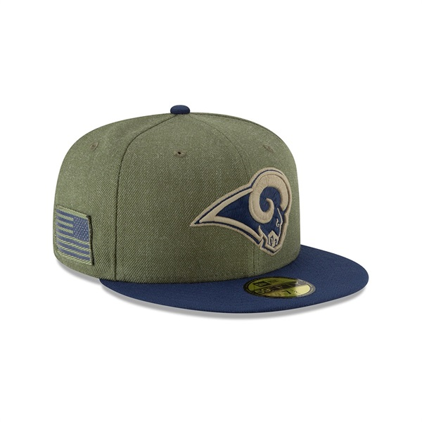 size 40 67e70 191f2 Los Angeles Rams 2018 Salute to Service 59FIFTY NFL Cap