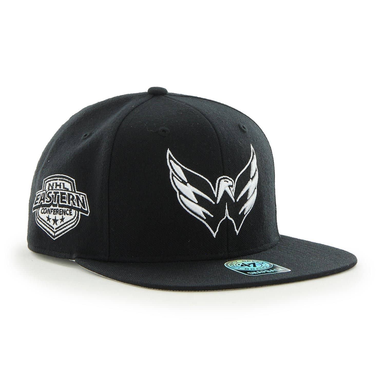 half off ec0e4 dd38c  47 Brand Washington Capitals Black   White Sure Shot Snapback NHL Cap    TAASS.com Fan Shop