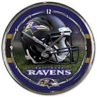 Baltimore Ravens Chrome NFL Wanduhr