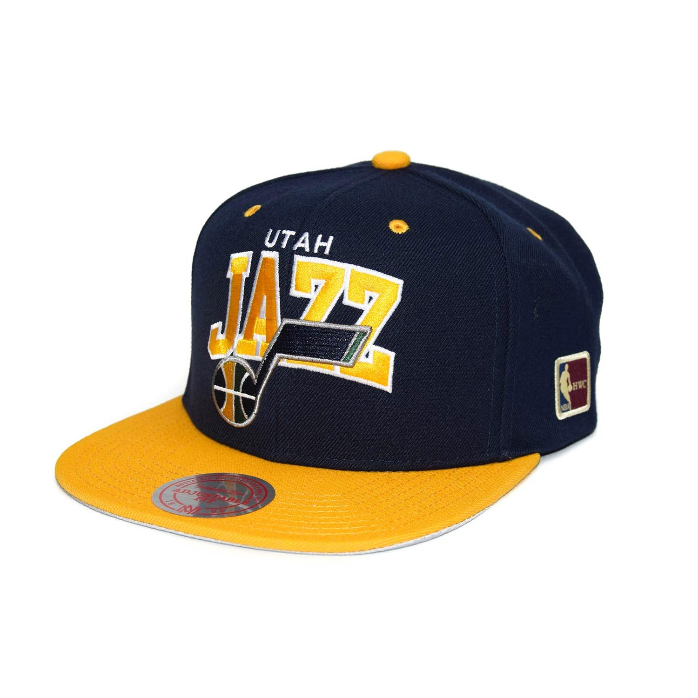 new arrival 792fb 1437d Mitchell   Ness Utah Jazz Team Arch Snapback NBA Cap  w HWC Patch    TAASS.com Fan Shop