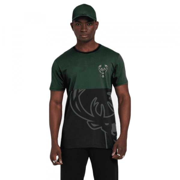 Milwaukee Bucks New Era Color Block Gradient NBA T-Shirt