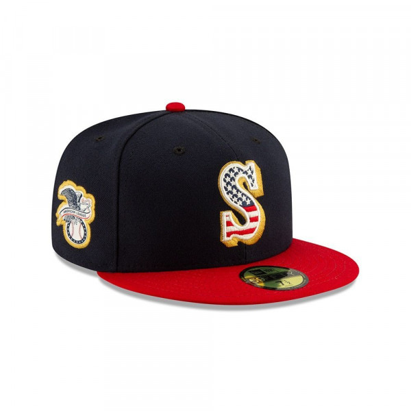 Seattle Mariners 4th of July 2019 59FIFTY Fitted MLB Cap
