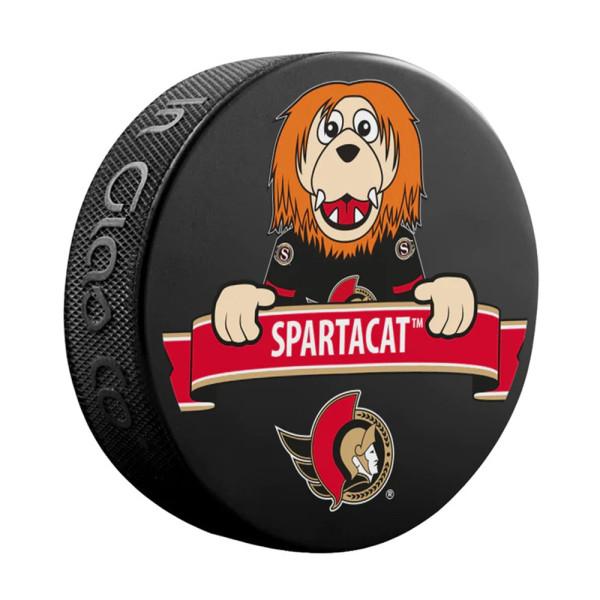 Ottawa Senators Spartacat Mascot NHL Souvenir Puck
