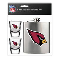 Arizona Cardinals NFL Flachmann & Schnapsgläser Set