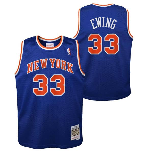 Patrick Ewing #33 New York Knicks 1991-92 Youth Swingman NBA Trikot Blau (KINDER)